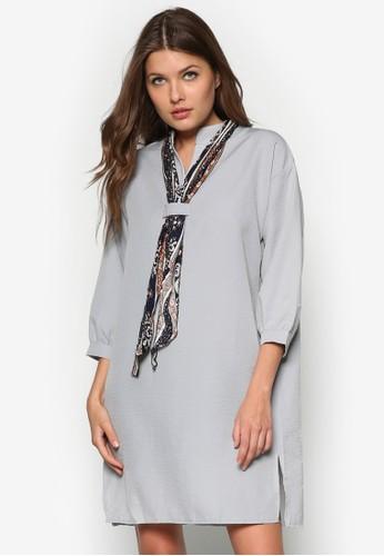 領zalora taiwan 時尚購物網鞋子巾直筒連身裙, 服飾, 短洋裝