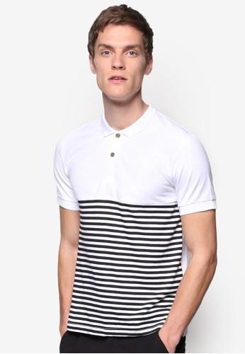對比色條紋 POesprit 台北LO 衫, 服飾, Polo衫