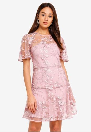 Forever New pink Ashton Embroidered Dress E7B7FAA70879ECGS_1