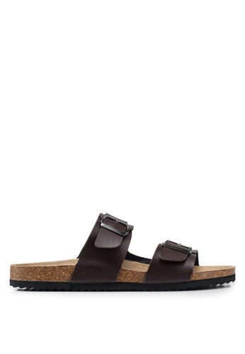 Brave Soul brown Anthony Cork Sandals with Strap and Buckle 7D38CSH1BFBBE0GS_1