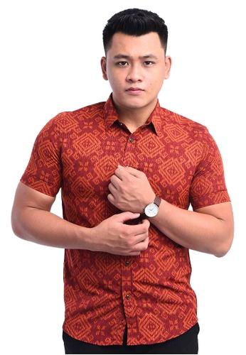 UA BOUTIQUE red Shirt Batik RBS11-031 (Maroon) BCEAFAA7E50921GS_1