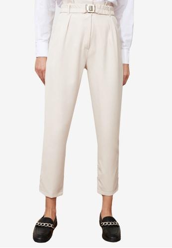 Trendyol beige Paperbag Waist Pants 4D7CBAA5F7B60FGS_1