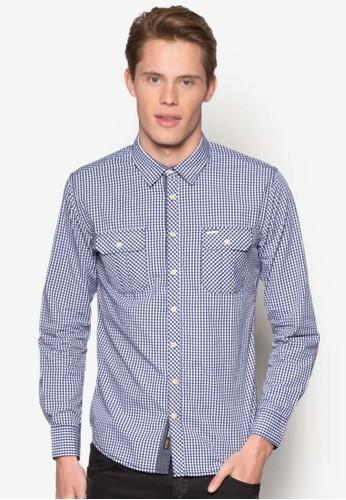 色織格紋長袖襯衫, 服飾, 格京站 esprit紋襯衫