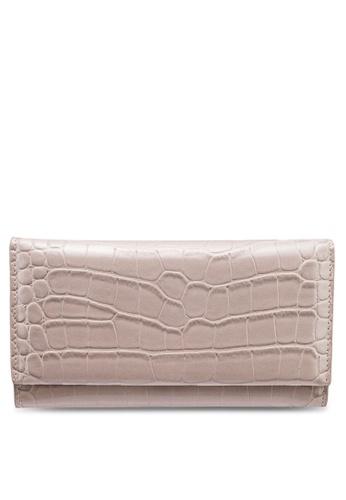 nose beige Faux Croc Wallet E9E40ACAFDE1EAGS_1