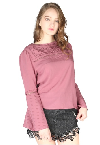 London Rag pink London Rag Women's Rose Boho Top 54228AA5DEBE82GS_1