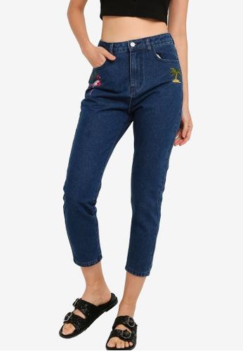 Something Borrowed 藍色 刺繡牛仔褲 75383AAFA2947FGS_1