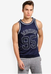 Wrung navy Teamster Tank Top WR395AA66MQJMY_1