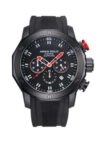 Aries Gold red Aries Gold Venturer G 7012Z Black and Red Watch FD755ACD4ECCF4GS_1