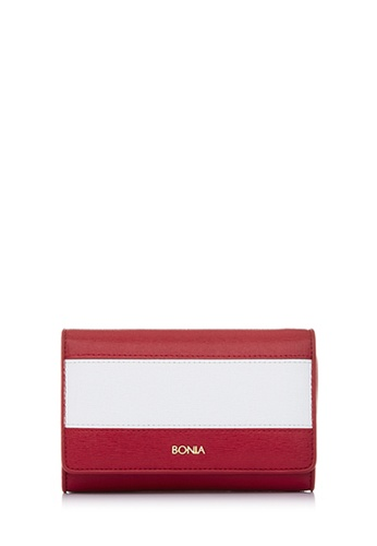 BONIA red Red The Line Trifold Wallet BO777AC44CMTMY_1
