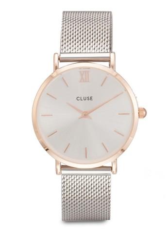 Minuit 網眼圓esprit tw框手錶, 錶類, 飾品配件