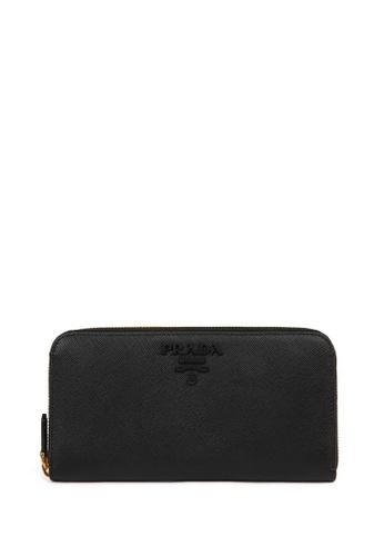PRADA black MONOCHROME Long  Wallet 1FBB5AC621C376GS_1