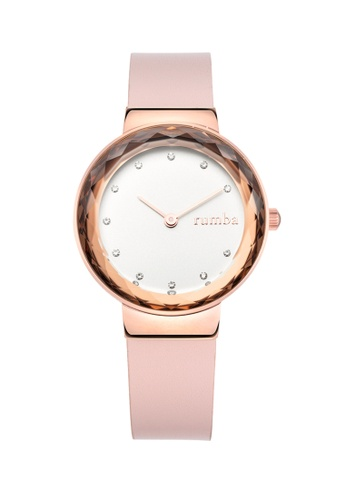 RumbaTime pink and gold Rumbatime Santa Monica Gem Leather Watch Blush 5C92CAC5EA3ED4GS_1