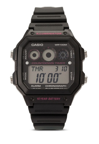 Casio black Casio Youth Digital Black Dial Men's Watch CA843AC55VHWMY_1