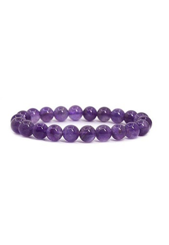 Memento Collection purple Simple Detailed Amethyst Bracelet ME060AC57YWCMY_1