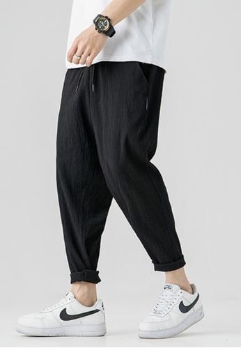 Twenty Eight Shoes black VANSA  All-match Breathable Casual Sweat Pants  VCM-P2046 CC539AAF0DAD0CGS_1