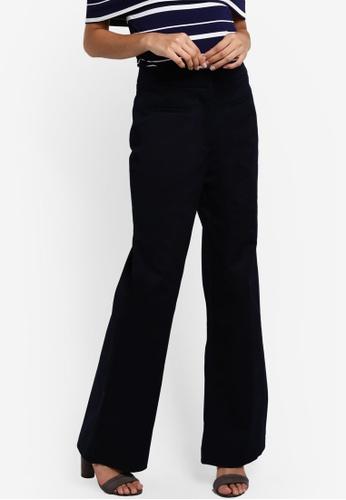 WAREHOUSE navy Twin Pocket Wide Leg Trousers WA653AA39GDGMY_1