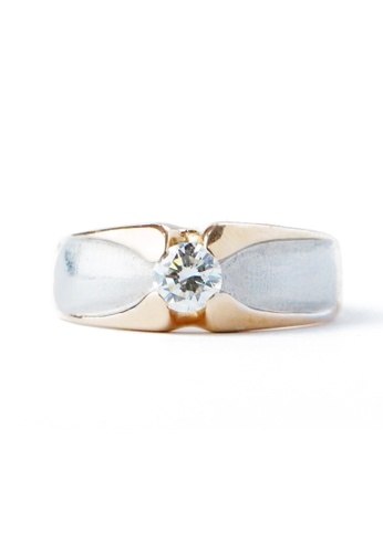 CEBUANA LHUILLIER JEWELRY multi 14 Karat Two Tone Gold Lady Ring With Diamond A161BACC458235GS_1