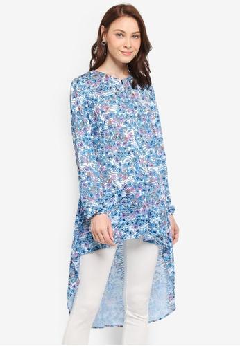 Zariya blue Tunics 254BBAABD9FFC8GS_1