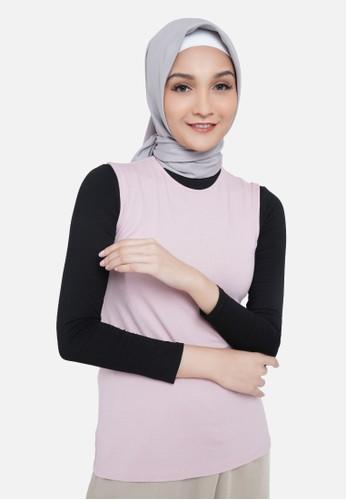 QUEENSLAND pink Manset Baju Tanpa Lengan Wanita A05798Q Pink DA82EAA8923A05GS_1