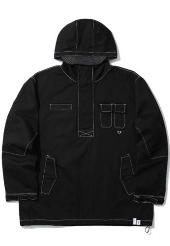 Fivecm black Utility anorak jacket 2EF45AA86B9215GS_1