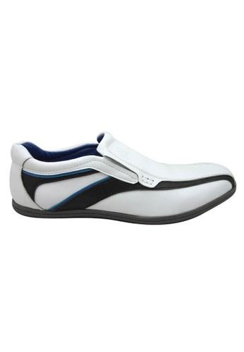 midzone black and white Comfortable Leather Slip On MI949SH08PXNMY_1