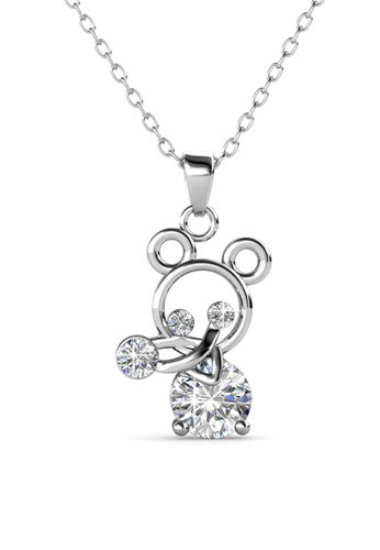 Her Jewellery silver Remy Pendant -  Made with premium grade crystals from Austria HE210AC0GLSRSG_1