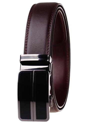 FANYU black Leather Dress Belt With Automatic Buckle belt B80CBAC8DD3598GS_1