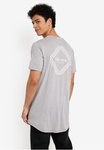Cotton On 灰色 休閒短袖長版T恤 08E06AAE8E4594GS_1