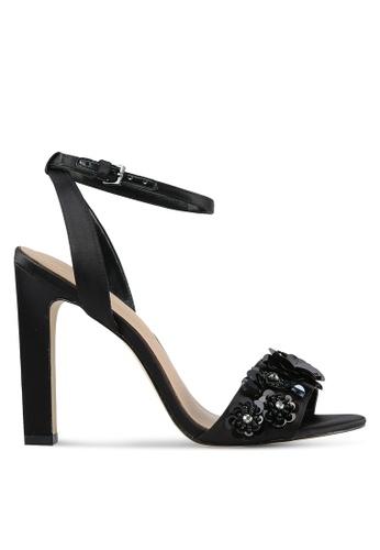 ALDO black Kilia Sandal Heels AL087SH0S3U9MY_1