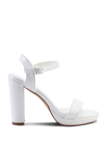 Nose white Mock Croco Platform Heels 9F63BSH242A467GS_1