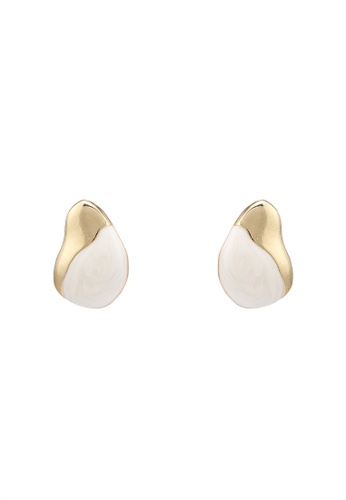 niko and ... white Marble Earrings 459ABAC6881CE3GS_1