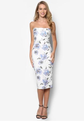 花卉平口貼身洋裝, 服飾, 洋esprit retail裝