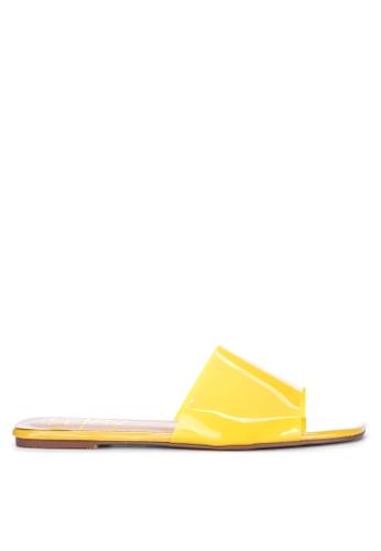 Sofab! yellow Russell PVC Flat Slides DE18CSH85AD39DGS_1