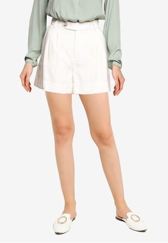 Banana Republic white Ecovera Viscose Pleat Shorts 3580FAA83F2714GS_1