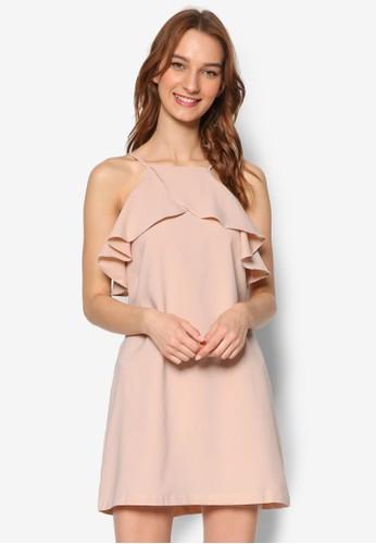 Inesprit 衣服es 荷葉層次裹飾細肩帶連身裙, 服飾, 洋裝