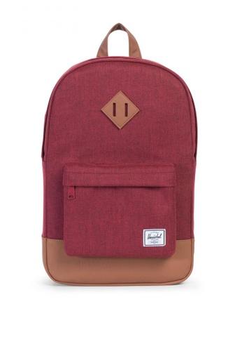 Herschel red Heritage Mid Backpack HE958AC0K9YLPH_1