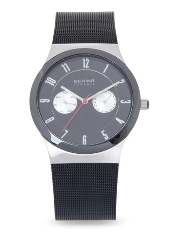 Bering black Ceramic Watch with Mesh Strap 1EAAAACCBD0813GS_1