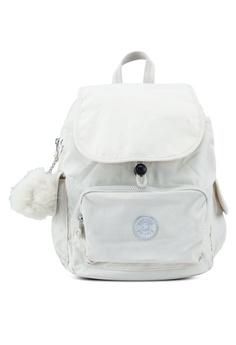 wholesale dealer 6d567 eeb10 Kipling white City Pack S Backpack 6A9F1AC6C82D15GS 1