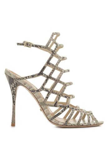 Covet white Schutz Juliana High Heel Caged Sandals CO331SH06HEZPH_1