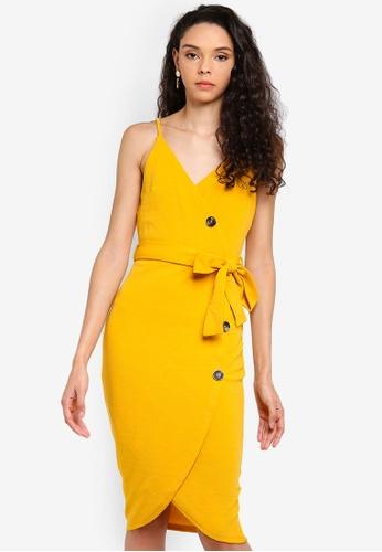 AX Paris yellow Button Front Dress B7AF5AA23D513AGS_1