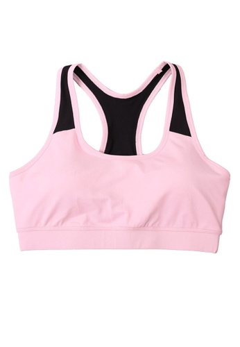 B-Code pink ZYG3027-Lady Quick Drying Running Fitness Yoga Sports Bra -Pink F23E6US9A31593GS_1