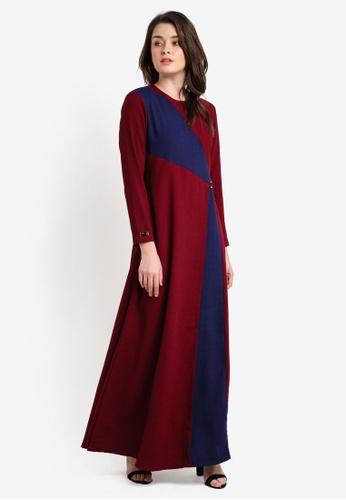 JubahSouq red Laveenia Dress JU399AA0RH7GMY_1