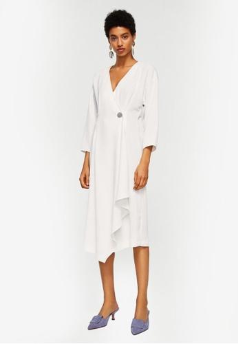 Mango white Crossed Design Dress C79CAAACEBC869GS_1