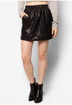 Pu Drawstring Skirt