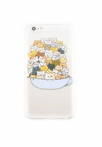 Fancy Cellphone Cases multi Cup of Mews Soft Transparent Case for iPhone 6plus/6splus FA644AC0ITFGPH_1