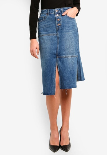 5f6b32181 Buy Guess Asymmetric Hem Denim Skirt Online on ZALORA Singapore
