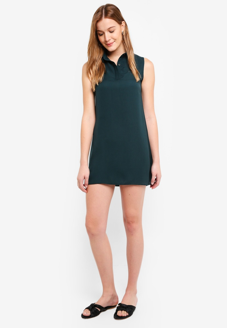 Dress Sleeveless Dark BASICS Shirt Black Green 2 pack ZALORA Hf4OOt
