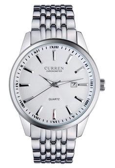 CURREN 8052 Men's Fashion Casual Watch Men White dial Wristwatch