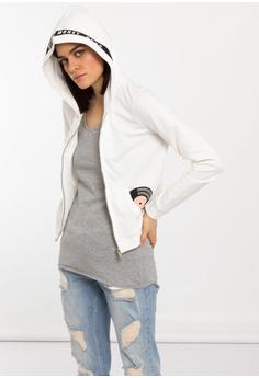 4c77fd2c91aa84 SH by SILVIAN HEACH white Open Sweatshirt With Hood 6ED9CAA82EA714GS 1