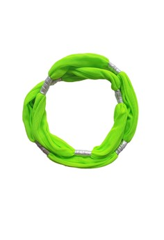 STRETCHY STRAPPY - NEON GREEN with Silver
